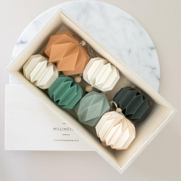 coffret 7 pampilles pliage main origami millimetree