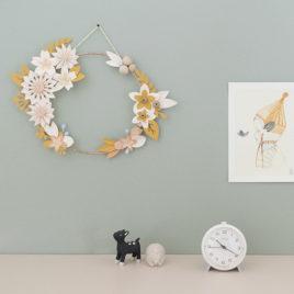 décoration murale millimetree cournne de fleurs paper