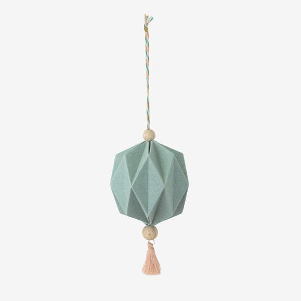 pampille origami ewen thé vert papier texturés pliage main millimetree