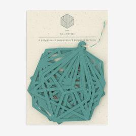 sachet de 8 polygones formes papier découpées palmier