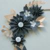 focus détail couronne de fleur paper deep forest