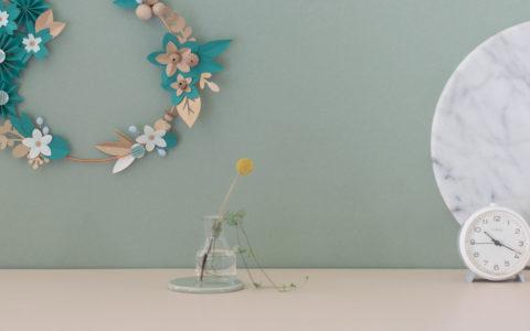 couronne lilwenn palmier taille L origami pliage main creation millimetree