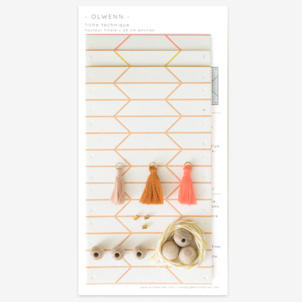 Kit 3 pampilles origami - impression letterpress