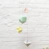 mobile aérien laiton 4 polyèdres origami fait-main millimétrée