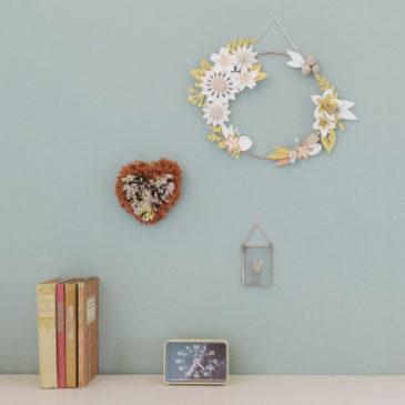 ambiance couronne lilwenn taille L poudré-r suspension murale création millimetree