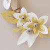 focus couronne poudre et or origami fleurs papier