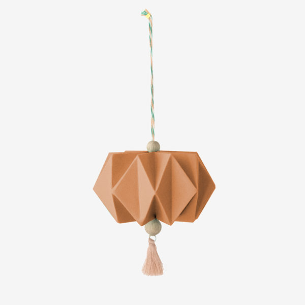 pampille origami arwenn rouille papier texturés pliage main millimetree