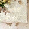 Albert coussin jacquard rayure tricoté en france création Millimétrée