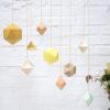Millimétrée - mobile Aéline - polyèdre -origami - paper -moutarde -laiton