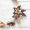 suspension murale couronne de fleurs de papier origami made in france fait-main millimétrée