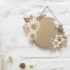 collaboration jeanine et milimetree, miroir poudré, vitrail americain origami