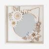 packaging box cp peuplier, made in france, miroir tifanny - rond cuivré 23 cm - lilwenn - cuivre -origami cactus couronne, suspension murale, bijou de mur collaboration jeanine et millimétrée