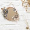 miroir tifanny - rond cuivré 15cm - lilwenn - cuivre -origami souris couronne, suspension murale, bijou de mur collaboration jeanine et millimétrée