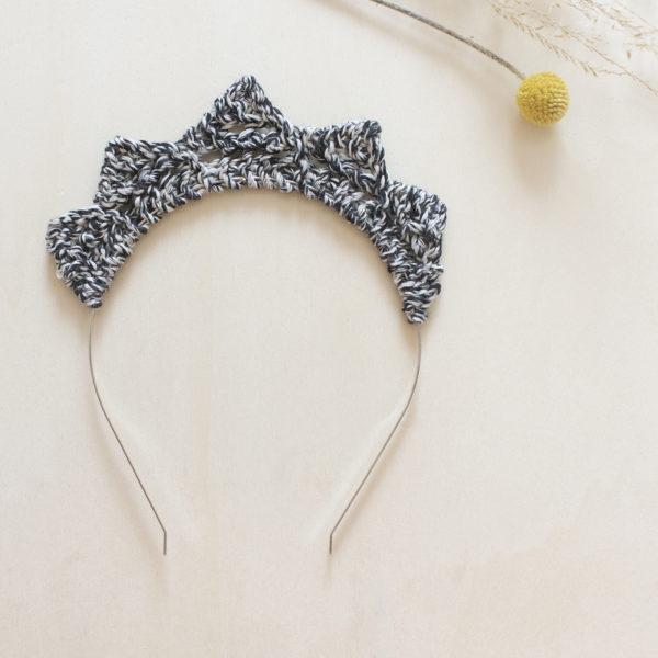 millimetree serre-tête maille tricotée petite princesse coton certifié bio made in vendée