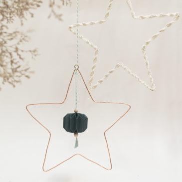 suspension cuivre | étoile |