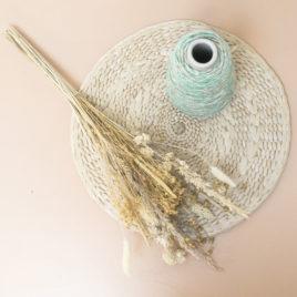 Soliflore |palmier| & son bouquet moutarde