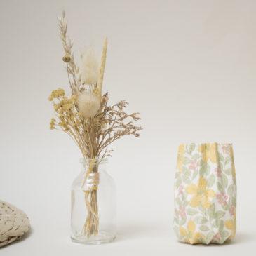 Ensemble mini bouquet – vase papier